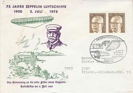 ALLEMAGNE OBLITERATION ZEPPELIN DE FRIEDRICHSCHAFFEN 1975 - Zeppelins