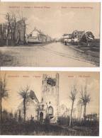 4 PK WOESTEN-VLETEREN- OORLOG 1914-1918-LA GUERRE 1914-1918 - Guerre 1914-18