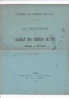 Très Rare ! Document Chambre De Commerce De Lyon, Rachat Des Chemins De Fer Par L'Etat, 1880 - Railway