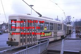 ReproductionPhotographie Ancienne D'un Tramway Avec Publicité Brandt à Saint-Etienne En 1973 - Reproductions