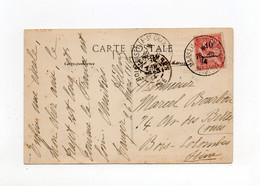 !!! MOUCHON DU MAROC SUR CPA DE 1914, CACHET MARSEILLE PAQUEBOT - 1877-1920: Semi Modern Period