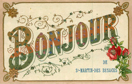 "SAINT MARTIN  DES BESACES ""Bonjour De ..."" - Andere Gemeenten"