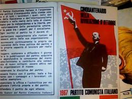 TESSERA PARTITO COMUNISTA ANNO 1967-LENIN  BUONO STATO DI CONSERVAZIONE IF9743 - Documenti Storici