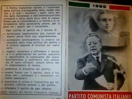 TESSERA PARTITO COMUNISTA 1965  TOGLIATTI  BUONO STATO DI CONSERVAZIONE IF9745 - Documenti Storici