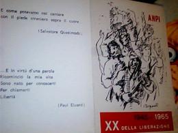 TESSERA ANPI 1945/1965_XX Della Liberazione  BUONO STATO DI CONSERVAZIONE IF9747 - Documenti Storici