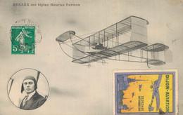 H2109 - RENAUX Sur Biplan Maurice Farman - Timbre DIJON AVIATION SEPTEMBRE 1910 - Aviadores