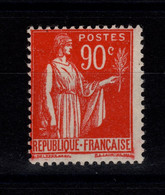 YV 285 N* (trace) Type Paix Cote 42 Euros. - 1906-38 Semeuse Con Cameo