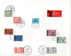 ALLEMAGNE = IVA MUNICH 1965 = CACHET  TEMPORAIRE Illustré + BELGIQUE + FRANCE + NEDERLAND + SUISSE - Zonder Classificatie