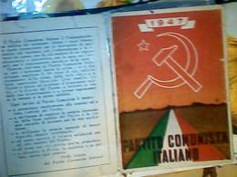 TESSERA PARTITO COMUNISTA ITALIANO 1947 IF9755 - Documenti Storici