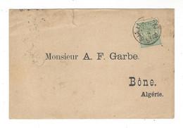 Copenhagen   Dampskibs Selskab   Mediteranean Departement  - Timbre Perforé  , Pour Bône Algérie - Brieven En Documenten