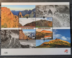 2017 - Portugal - MNH - Peaks Of Madeira - Souvenir Sheet Of 2 Stamps - FACE VALUE - Unused Stamps