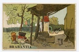 Lynen, Amédée-Ernest,publicité,publicité Margarine Extra-fine Brabantia Collection De-ci De-là à Bruxelles ( N°91 ) - Autres Illustrateurs