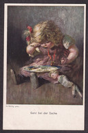 H. Rettig - Ganz Bei Der Sache / E M No. 165 / Postcard Not Circulated - Autres Illustrateurs