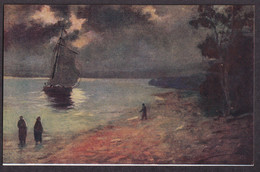 E. Jansen: Am Meeresstrande; Na Brehu More / D.K. & Co. P.  / Postcard Not Circulated - Autres Illustrateurs