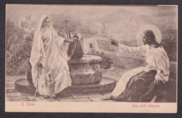 I. Tisov: Isus Pred Zdencom / Mosinger - Lutria On The Back Of Postcard / Postcard Not Circulated - Autres Illustrateurs