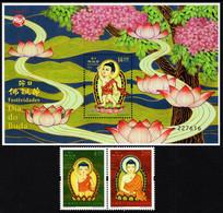 Macao - 2021 - Festivals In Macao - Buddha's Birthday - Mint Stamp Set + Souvenir Sheet - Nuevos
