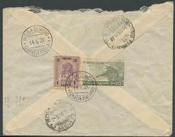 Somalia, Lettera Da Mogadiscio A Roma Affrancata Con 1L Su 10a. Lilla N.80 + 20c. Verde N.81. - Somalia