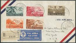 Somalia, Lettera Raccomandata Spedita Per Via Aerea Da Addis Abeba A New York - Somalia