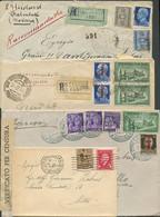 Italia, Lotto Di Lettere E Francobolli Sciolti Del Periodo R.S.I,/Luogotenenza. Notati Diversi Oggetti Interessanti. Mer - Unclassified