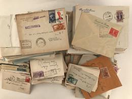 Italia, Accumulo Di Storia Postale Repubblica, Principalmente Periodo Ruota (notati Numerosi Usi Isolati). - Collections