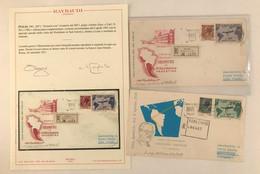 Italia, Collezione Di Lettere Primo Giorno Di Repubblica E Vaticano, Notata Lettera Con Gronchi Rosa Ricoperto Cert. Ray - Collections