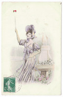 A. COQAIEUX (?) - Jeune Femme Jouant Au Diabolo - Autres Illustrateurs