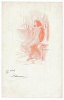 Antoine CALBET - Antiquité - Femme - Trone - Autres Illustrateurs