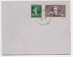 FRANCE SURTAXE 55C BERLIOZ +35C VERT SEMEUSE LETTRE LYON 28.11.1938 NON VOYAGEE - 1921-1960: Moderne