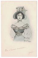 R. CAPUTI - Jeune Femme à La Mode De L'époque - Fashion - Autres Illustrateurs