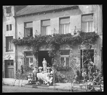 Original Foto 1933 Merzig Gebäude Haus Brunnenstraße 13, Wohnhaus Der Familie Mautes - Kreis Merzig-Wadern
