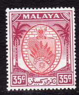 Malaya Negri Sembilan 1949-55 Coat Of Arms 35c Scarlet & Purple Definitive, MNH, SG 57 (MS) - Negri Sembilan