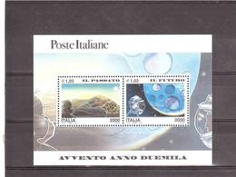 ITALIA 2000 AVVENTO ANNO 2000 FOGLIETTO IL PASSATO IL FUTURO NUOVO - Blocks & Sheetlets