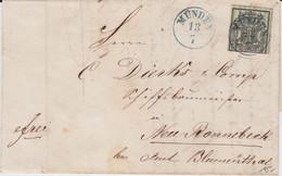 Hannover Mi 9 K1 Hannoversch Münden Bf N Neu Rönnebeck Amt Blumenthal Landpost 1858 - Hanovre