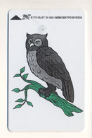 Phonecard UKRAINE - Kyiv 1997 - Telecard Chip Card - Animals - Birds - Owl - 840 Units - Gufi E Civette