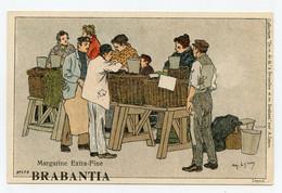 Lynen, Amédée-Ernest,publicité,margarine Extra-fine Brabantia Collection De-ci De-là à Bruxelles (N°179 ) Poissonnier - Autres Illustrateurs