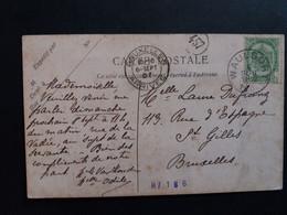 Belgique  Oblitération Waulsort Sur CP Gare De Waulsort - Postcards [1871-09]
