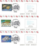 KOREA SOUTH, 1989, Booklet Philatelic Center 14/16, Fishes - Korea, South