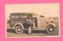 Australia Old Photo Auto Cars Van A Wiluna 1937 Bread Transport Van - Cars