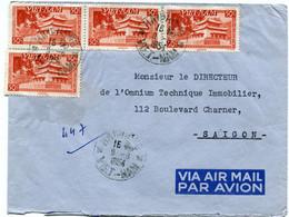 VIET-NAM LETTRE PAR AVION DEPART HAIPHONG 9-6-1954 VIET-NAM POUR LE VIET-NAM - Vietnam