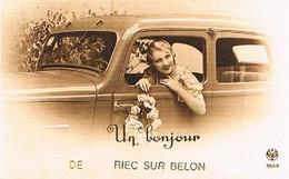 29 UN BONJOUR   DE   RIEC  SUR  BELON      CPM  TBE   1088 - Otros Municipios