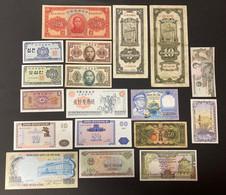 19 X Various Banknotes Including China, Korea And Vietnam - China