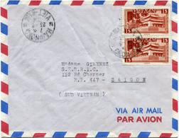 VIET-NAM LETTRE PAR AVION DEPART HAIPHONG 23-3-1954 VIET-NAM POUR LE VIET-NAM - Vietnam