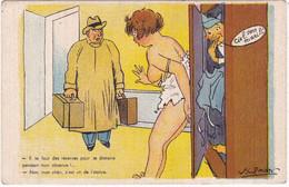 Illustrateur : SPAHN : Femme Trompant Son Mari  Avec Un Militaire : Il Te Faut Des Réserves .... : Humour - Autres Illustrateurs