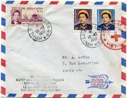 VIET-NAM LETTRE PAR AVION DEPART SAIGON 10-11-1952 VIET-NAM POUR LA FRANCE - Vietnam
