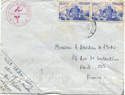 VIET-NAM LETTRE PAR AVION DEPART ? 17-5-1956 VIET-NAM POUR LA FRANCE - Vietnam