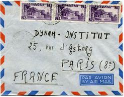 VIET-NAM LETTRE PAR AVION DEPART SAIGON ?-?-1953 VIET-NAM POUR LA FRANCE - Vietnam