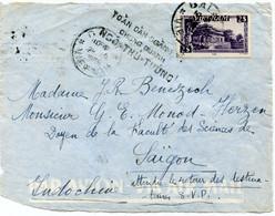 VIET-NAM DEVANT DE LETTRE PAR AVION DEPART DALAT 29-8-1955 VIET-NAM POUR LE VIET-NAM - Vietnam