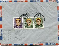 VIET-NAM LETTRE PAR AVION AVEC AFFRANCHISSEMENT AU DOS DEPART DALAT 27-2-1953 VIET-NAM POUR LA FRANCE - Vietnam