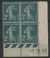 N° 239 COTE 150 € Coin Daté Du 2/12/30. Type Semeuse. Neuf ** (MNH). Voir Description - ....-1929
