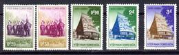 Vietnam Du Sud 1957 Yvert 65 / 69 ** Neufs Sans Charniere. Hauts Plateaux - Vietnam